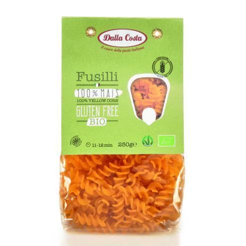 Макарони DALLA COSTA BIO Fusilli з кукурудзою органічні, без глютену 250 г 8 шт/ящ 0169