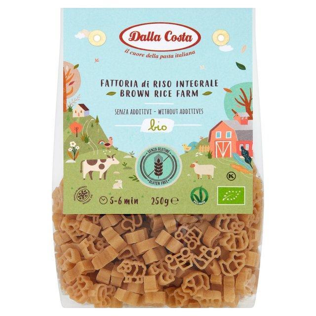 Макарони DALLA COSTA BIO Farm з коричневим рисом, без глютену 250 г 8 шт/ящ 1735