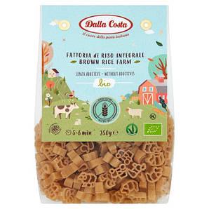 Макарони DALLA COSTA BIO Farm з коричневим рисом, без глютену 250г 8шт/ящ 1735