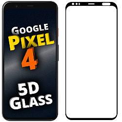 5D стекло Google Pixel 4 (Защитное Full Glue) Черное (Гугл Пиксель 4)