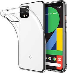 Прозрачный Чехол Google Pixel 4 XL (ультратонкий силиконовый) (Гугл Пиксель 4 ХЛ)