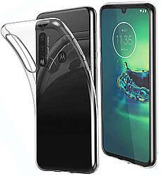 Прозрачный Чехол Motorola One Macro (ультратонкий силиконовый) (Моторола Ван Макро)