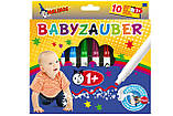 Фломастеры на водной основе MALINOS Babyzauber для малышей 10 шт, фото 2