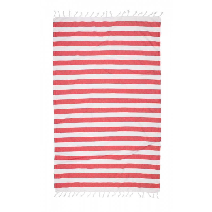 Полотенце Barine Pestemal - Deck 95*170 red красный