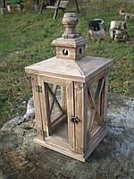 Фонарь для свечи, садовый фонарь из дерева