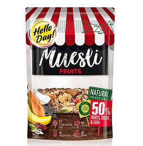Мюслі AGUS Hello Day фрукти, горіхи та чіа 300 г 20 шт/ящ