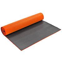 Коврик для фитнеса и йоги PVC 6мм двухслойный Zelart FI-5558 (размер 1,73мx0,61мx6мм, цвета в ассортименте), фото 1
