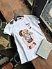 Женская футболка с разными принтами (Качество Люкс) М-3-0520, фото 6