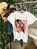 Женская футболка с разными принтами (Качество Люкс) М-3-0520, фото 2