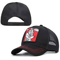 Бейсболка с вышивкой Bugs Bunny черная, фото 1