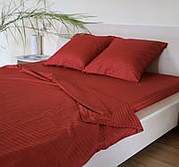 Постельное белье из ткани Страйп сатин Красный