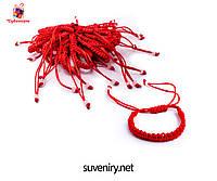 Браслет-оберег шамбала из красной нити