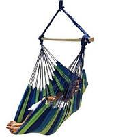 Кресло-гамак подвесное мексиканское тканевое 100*130 см с длинной планкой