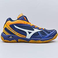 Кроссовки Mizuno 1806-5 размер 41-45 NAVY/ORANGE темно-синий-оранжевый