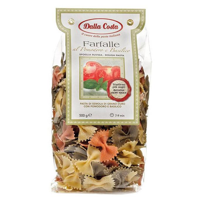 Макарони DALLA COSTA Farfalle tricolor з томатами і базиліком 500 г 12 шт/ящ 1077