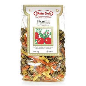 Макарони DALLA COSTA Fusilli tricolor з томатом і орегано 500 г 12 шт/ящ 0018