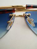 Солнцезащитные очки авиаторы женские капля синие с градиентом , Kaizi 605, фото 4