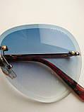 Солнцезащитные очки авиаторы женские капля синие с градиентом , Kaizi 605, фото 2