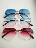 Солнцезащитные очки авиаторы женские капля синие с градиентом , Kaizi 605, фото 8
