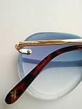 Солнцезащитные очки авиаторы женские капля синие с градиентом , Kaizi 605, фото 3