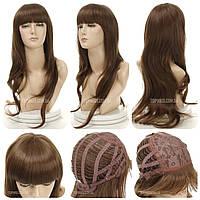 Длинный парик из искусственных термо волос Samantha русого цвета