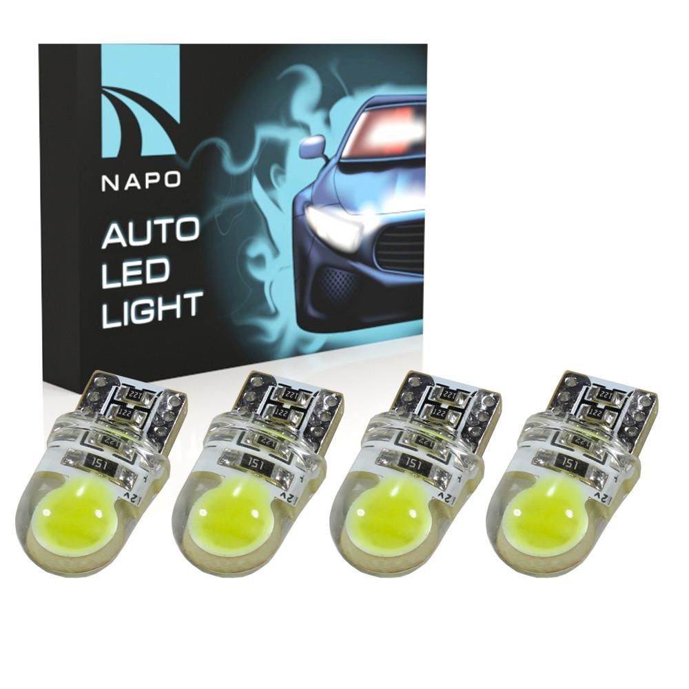 Лампа автомобильная LED T10-COB2-Can.t10-035 W5W T10 комплект 4 шт цвет свечения белый