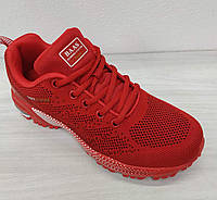 Демисезонные кроссовки baas красные женские / подростковые
