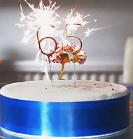 Свечи в торт цифры бенгальский огонь