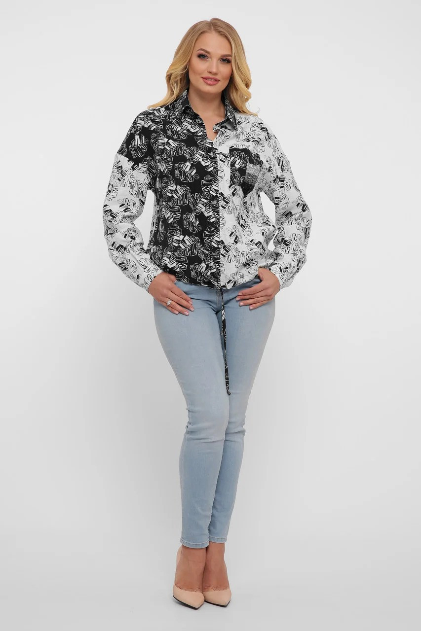 Гламурная женская рубашка из льна,  размер  от 52 до 58