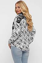 Гламурная женская рубашка из льна,  размер  от 52 до 58, фото 3