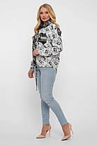 Гламурная женская рубашка из льна,  размер  от 52 до 58, фото 2