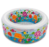 """Бассейн """"Аквариум"""" для детей от 3-х лет, модель 58480 NP, размер 152-56см, объём 360л, вес 3,5 кг."""