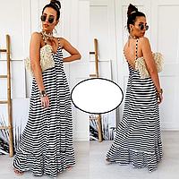 Стильное длинное женское платье свободное кроя 42-54 в цветах