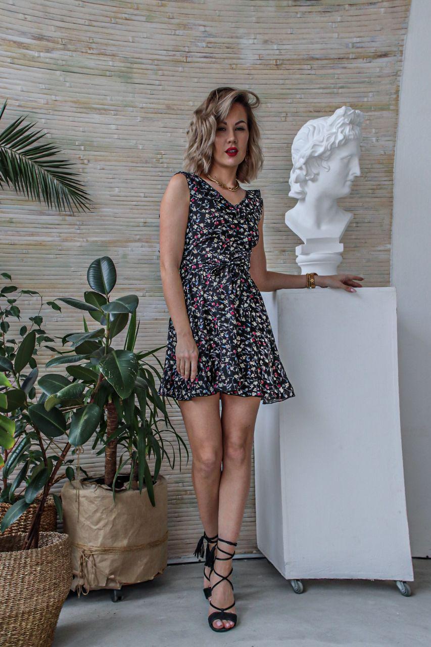 Платье летнее с открытой спиной NOBILITAS 42 - 48 софт принт (арт. 20026)