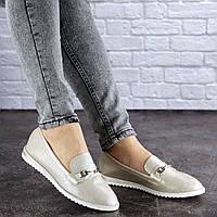 Женские туфли Fashion Jeffy 1754 37 размер 24 см Бежевый