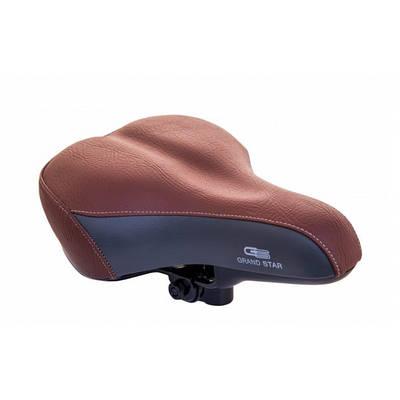 Седло велосипедное с пружинами GRAND STAR, коричневый