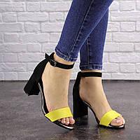 Женские босоножки на каблуке Fashion Loopy 1535 38 размер 24,5 см Черный