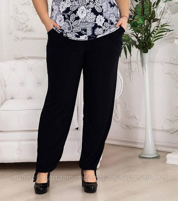 Летние брюки больших размеров из масла р. 50-64