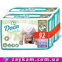 Подгузники памперсы dada 4 Extra Soft Mega Pack Mega Box Дада 4 (7-18 кг) 92 шт.