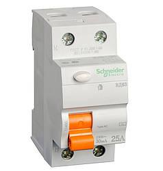 Дифференциальный выключатель (УЗО) Schneider Electric Домовой ВД63, 2P 25А 30мА,  11450
