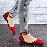 Женские балетки Fashion Bommer 1741 36 размер 23,5 см Красный