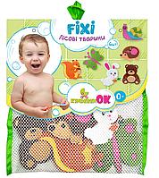 Набор игрушек на присосках для купания в ванной Лесные животные, KinderenOK (040313)