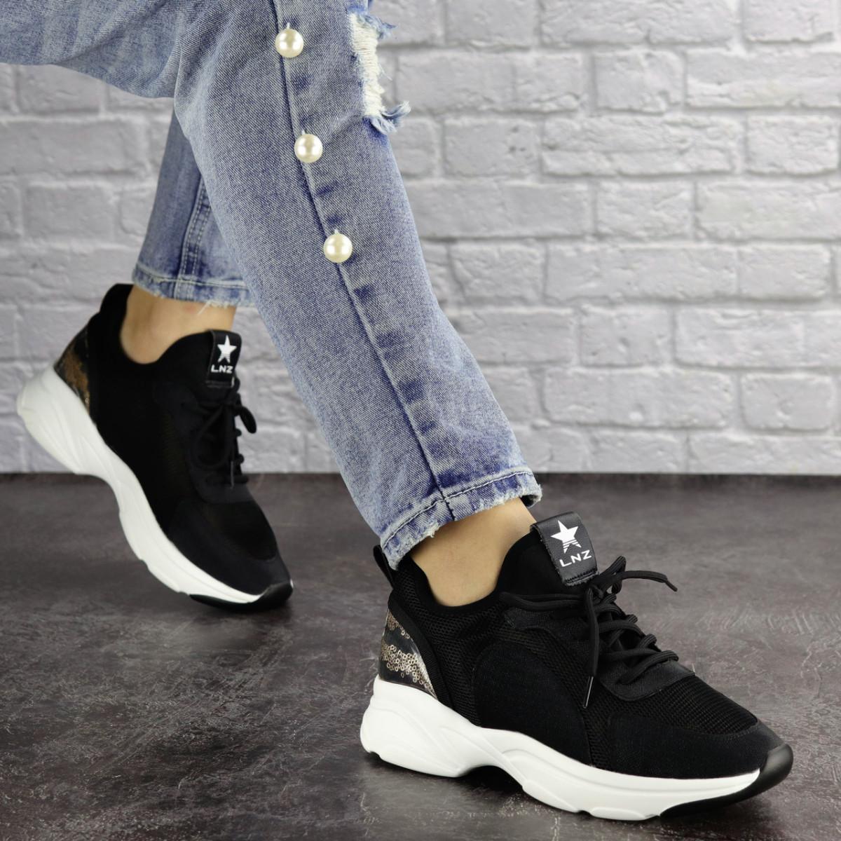 Женские кроссовки Tyson черные 1432 (36 размер)