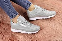 Женские модные кроссовки серебристые Ollie 1177