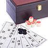 Лото настольная игра в кожзам коробке W9070 (90 дер.боч.,48 карт,40 фиш,р-р 25,5x14x10,5см)