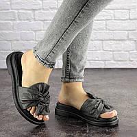Женские шлепки Fashion Sealy 1688 38 размер 24 см Серый
