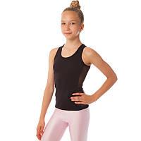 Майка спортивная из хлопковой ткани детская Zelart DR-1592 (р-р RUS-32-42, рост 122-164см, черный)
