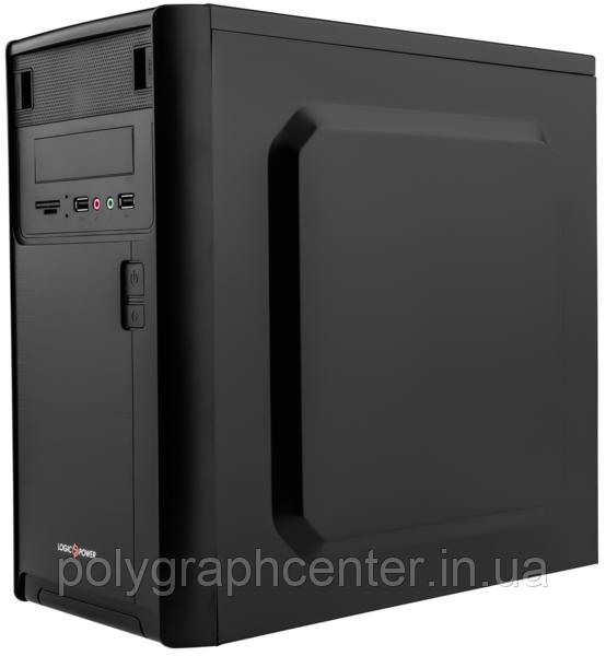 Корпус Logicpower 6103-400w 8см, 2хUSB2.0, Black