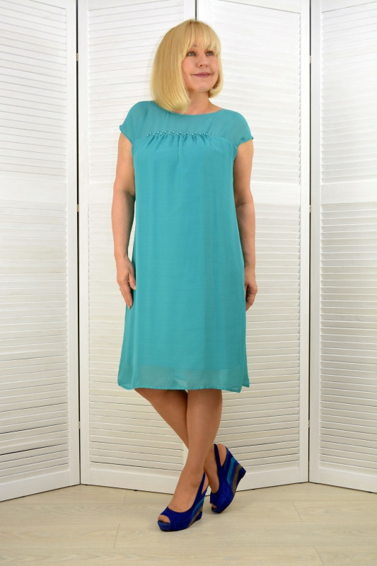 Платье шифон мята (3185-5)