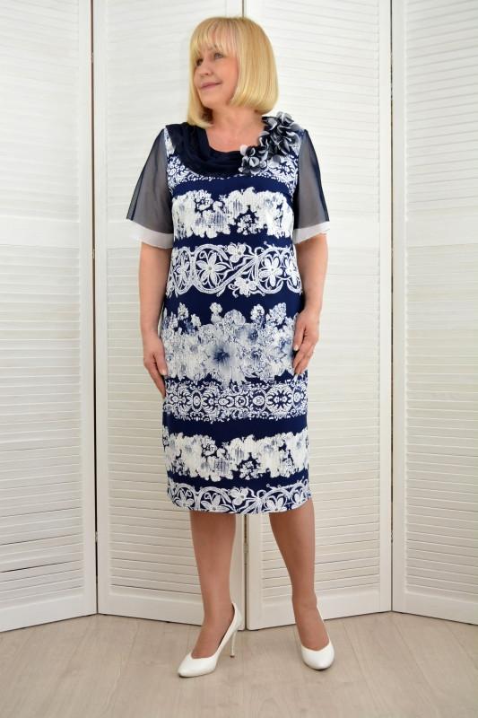 Платье трикотаж масло нарядное (215-1)